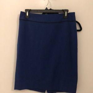 Blue Pencil work Skirt